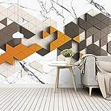 HGFHGD Selbstklebende Moderne Innenarchitektur 3D Wandbild Dreieck geometrischen Marmor kreative Wohnzimmer TV Hintergrund Wandkunst Wandaufkleber Tapete