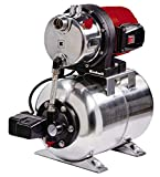 Einhell Hauswasserwerk GC-WW 1250 NN (1200 W, max. 5 bar, 5000 L/h Fördermenge, max. 50 m Förderhöhe, wartungsfreier Motor, Wasserablassschraube, 20 L Edelstahldruckkessel)