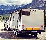 Heckmarkierung für Wohnwagen Gespanne in Spanien | selbsthaftend & wiederverwendbar | Oktopus-Folie mit Mikrosaugnäpfen | stark haftend & rückstandslos ablösbar | Warntafel Wohnmobil Anhänger Caravan