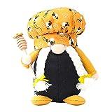 Subfamily Bienenfest Gesichtslose Puppen Bienenzwerge Elfenpuppe, Bienenform Puppen Ornamente Plüschtier Deko, Wichtel Handgemachte Wichtel Figuren Gesichtslose Dwarf Für Fensterbänken Desktop
