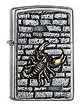 Zippo Scorpion on The Wall Emblem-Street Chrome Collection 2018 Sturmfeuerzeug, Silber, 6 x 4 x 2 cm