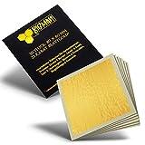 EICHENFELS Blattgold - Essbares Blattgold Blattgold - 23 Karat - Extra Groß - 8 x 8 cm - Goldfolie für Torte - Gin - Fleisch - Backen - Deko Torte - Zum Essen oder Basteln - Nagel - B