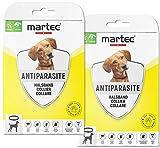martec PET CARE 2X Hundehalsband gegen Zecken Flöhe und Milben Schutz vor Parasiten