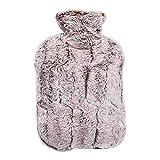 DXLANS WäRmeflasche 1500ml Waschbar Wärmetherapie Dicke weiche Plüsch-Winter sicherer Durable Wärmflasche Abnehmbarer Leakproof mit Abdeckung Warm Tragbare Bettflasche (Color : 1)