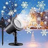 ShuBel Projektor-Lampe, Weihnachten, für den Außenbereich, weißes LED-Licht, Schneeflocken-Projektor, Außen/Innenbeleuchtung, IP65, wasserdicht, Weihnachtsbeleuchtung, Dekoration für Garten/Party