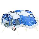 Skandika Familienzelt Nimbus für 8 Personen   Campingzelt mit 3 Schlafkabinen, wasserdicht, 5000 mm Wassersäule, 2,15 m Stehhöhe, versetzbare Frontwand, großer Wohnraum