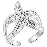 N-K 1X Frauen Ring Schmuck Silber Retro Stern Einstellbare Offenen Ring Hochzeit Daumen Knöchel Ring Ausgezeichnete Qualität Dauerhaft