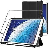 ebestStar - kompatibel mit iPad Air 2019 Hülle Air 3 Smart Cover [Ultra Dünn] Schutzhülle Etui, Schutz Hülle Ständer Case, Schwarz + Panzerglas Schutzfolie [iPad: 250.6 x 174.1 x 6.1mm, 10.5'']