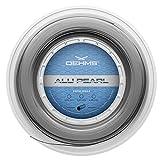 Oehms Alu Pearl Rough Rough   Profilierte Co-Polyester Tennis-Saite   200 m Rolle   1.21 mm