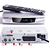 iView HD Full HD Freeview Receiver + HD Recorder durch USB & SD-Karte, Analog zu Digital TV Konverter 1080P Set-Top-Box & MP4/MP3/JPG USB M.M Player (HDMI oder Scart Ausgang) DVBT-2 Silber