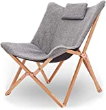 ZYYH Klappstuhl, bequemes klappbares Stranddeck auf dem Outwell Camping, tragbares Liegesofa, Gartensessel, Sonnenliege aus Holz