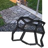 Hengda® 3x Betonform Pflasterform Schalungsform Gießform Plastikformen für Beton Garten Gehwegen Trittsteinen DIY Natursteinpflaster Pflastersteine Terrassenp