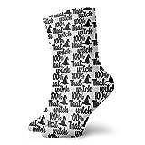 Kteubro 100% That Witch, DNA Test Socks Classic Leisure Sport Short Socks 30cm/11.8inch Suitable for Men Women