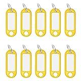 Wedo 262101805 Schlüsselanhänger Kunststoff (mit Ring, auswechselbare Etiketten) 10 Stück, gelb