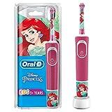 Oral-B Kids Prinzessin Elektrische Zahnbürste für Kinder ab 3 Jahren, kleiner Bürstenkopf & weiche Borsten, 2 Putzprogramme inkl. Sensitiv, Timer, 4 Disney-Sticker, Rosa