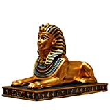 Ägyptische Statue Sphinx Gebäudemodell Sammler Figur Kultur Fürs eigene Haus & Garten Skulptur Polyresin Weihnachtsdekoration Auto,L
