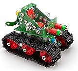 A ALEXANDER 2335 Constructor Tanky Panzer Metall Bausatz, 219 Teile Metallbaukasten, Metallbausatz mit Panzerfahrzeug, Werkzeug und Kunststoff Elementen, Konstruktionsspielzeug für Kinder ab 8 Jahre