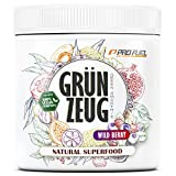 GRÜNZEUG   Das Beste aus über 40 Sorten Obst, Gemüse, Algen und Gräsern   Hochwertiges Superfood mit Vitaminen & Mineralien   DAS ORIGINAL von ProFuel   300g - WILD BERRY