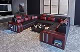 JVmoebel Design Sofa Couch Leder Polster Sitz Garnitur Wohnlandschaft Ecksofa A2 Rot Neu