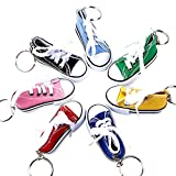 Gcroet Sneaker Schuh Schlüsselanhänger Sneaker Schlüsselbund Mini Leinwand Fingerschuhe Schlüsselanhänger Kinder süßer Kleiner Schuh Schlüsselanhänger (Zufällige Farbe)