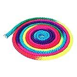 Dkhsy Gymnastikseil, Regenbogenfarben, für Wettkampf, Training, Springseil, 1 cm x 3 m, Kinder, Mehrfarbig