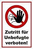 Melis Folienwerkstatt Aufkleber - Zutritt verboten - 30x20cm – S00355-003-B 20 VAR