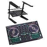 Roland DJ-202 2-Kanal 4-Deck USB-DJ-Controller + keepdrum HA-LS20 Laptop