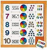 Educo | Educo,Zähldiagramm 6-10 | Lehrmaterialien Mathematik | Mathematik - Rechnen - Zahlensinn und Zählen | Ab 84 Monate | Bis 144 Monate, Farbsk