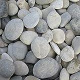 Splittprofi Zierkies Flusskiesel Malsteine rund 30-50 mm | im praktischen 3Kg Beutel | handsortiert und sauber| zum Bemalen und Basteln ca 10-15stk