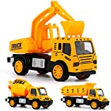 Clenp Ferngesteuertes Auto, Minibagger Mixer Dumper Traktor LKW Modellauto Spielzeug Engineering Fahrzeug Indoor Outdoor Spiele A 10,5 cm x 4 cm x 5,5 cm