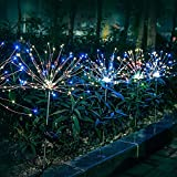 Solar Garten Lichter Feuerwerk Lichter, Outdoor LED Solarbetriebene Feuerwerk Lichter, wasserdichte Fee Girlande String Rasen Straßenlaterne Hausgarten Urlaub Dekoration