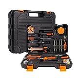 AMAZOM Werkzeugset Für Zuhause, 46-Teiliges Haushalts-Handwerkzeugset Mit Kunststoff-Werkzeugkasten-Aufbewahrungskoffer, Cr-V-Garagenreparaturwerkzeug, Unverzichtbares Werkzeug, Einweihungsgeschenk
