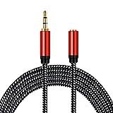 3,5 mm Kopfhörer-Verlängerungskabel, 3,5 mm Stecker auf Buchse, Stereo-Audiokabel, Adapter für iPhone, iPad, Smartphones, Tablets, Media-Player (25 m)