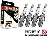 Brisk Premium EVO DR15SXC 1898 Zündkerzen, 4 Stück