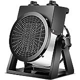 Terrassenheizung Tragbar, 2000 W Elektrische Heizlüfter, in 3 Sekunden Aufheizen Kleine Lüfterheizung, Für Badezimmer Bürohaushalt,Schw