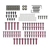 KKmoon Motorrad Schrauben Set Verkleidungsschrauben Schrauben Karosserie Kit 194 Stücke Rot