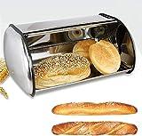 FZYE Edelstahl-Brotkasten/Küchenvorratsbehälter/Roll-Top-Brotkasten lucar (Größe: groß)