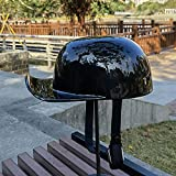 FANGJIA-Helmet Motorrad-Halbhelm, Retro-Helm DOT-geprüfter Rollerhelm Halbgesichtshelm für Männer Frauen