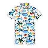 mini eggs Kinder Junge Schwimmanzug Badenmode Badeanzug Einteiler (Hai)