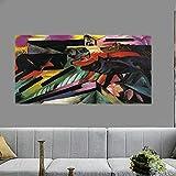 Die Wölfe Von Franz Marc Tiere Leinwandmalerei Bauernhaus Wanddekorationen für Wohnzimmer Dekor Abstrakte Wandkunst 30x60cm 12 'x24' (rahmenlos)