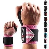 Handgelenkbandage [2er Set] in 45cm / 60cm Länge + Grundübungs Guide - Wrist Wraps fürs Krafttraining, Bodybuilding, Crossfit und Fitness - Handgelenkbandagen für Frauen und Männer geeig