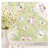 Wandtattoo Loft Fensterbild Frühling Ostern Schmetterlinge 25 STK. Im Set frühlingshafte Fensterdeko – Wiederverwendbare Fensteraufkleber / 1. DIN A4