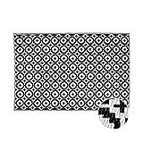 Butlers Colour Clash Outdoor Teppich Mosaik 180x120 cm in Schwarz-Weiß - Flachgewebe Teppich für Innen- und Außenb
