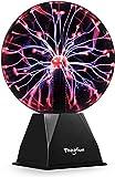 20cm Magische Plasmakugel, Theefun Leucht Ball Elektrostatische Kugel Berührungsempfindliche Blitzkugel, Blinkende Pädagogisches Spielzeug Physik Blitzlicht Plasmalampe SphäreLichteffekte