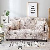 WXQY Kombination aus elastischer Sofaschutzhülle L-förmige Ecksofa-Schutzhülle All-Inclusive rutschfeste Sofabezug A8 1-Sitzer