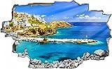 Hafen Schiffe Griechenland Kreta Wandtattoo Wandsticker Wandaufkleber C0461 Größe 70 cm x 110