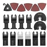 lujiaoshout Oszillierende Sägen Werkzeug Zubehör-Kit Schleifen Metall, Holz, Kunststoff Multi für Handwerker Kettensäge Versorgung 40PCS