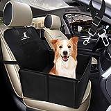 Wimypet Hunde Autositz für Kleine Mittlere Hunde, Robust Rückbank Vordersitz Hundesitz mit Sicherheitsgurt, Wasserdicht Faltbar Autositzbezug