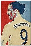 HuGuan Leinwand Malerei Bild Sport Zlatan Ibrahimovic Geschenk für Freund Poster Wandkunst Bilder Und Drucke 23.6'x35.4'(60x90cm) Kein Rahmen