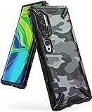 Ringke Fusion-X DDP Kompatibel mit Xiaomi Mi Note 10 Pro Hülle, Mi Note 10 Schutzhülle, Militär Muster Rückseite mit Verbesserter TPU Bumper - Camo Black
